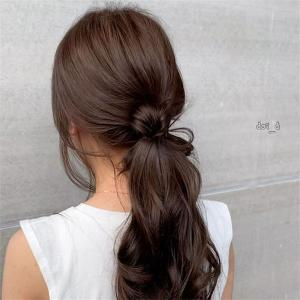 随兴简单的马尾 慵懒韩式马尾发型